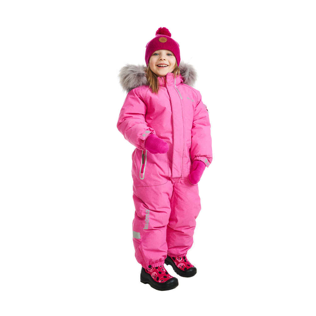 Kuoma Kids One Piece UNNI Snowsuit Pink Denim Made in Finland